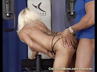 muscle woman banging