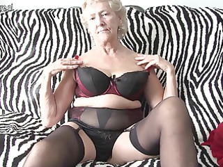 american granny uncovering off her goods