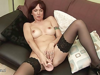 european housewife mom playing with herself