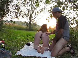 slutty rufous licks and copulates open-air and