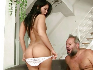 hot amateur has porn with busty grandpa