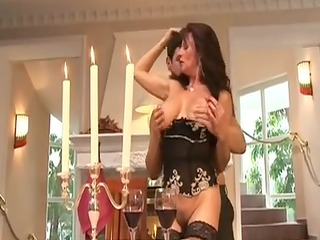 cougar doxy groupfucked by rich man