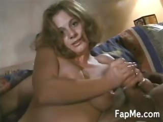lovely milf massages a uneasy  clean cock