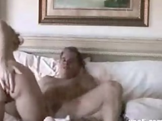 housewife copulates hubbie and den takes cummed on