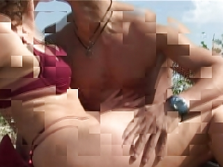 older  with tiny bossom giant tits acquires gang