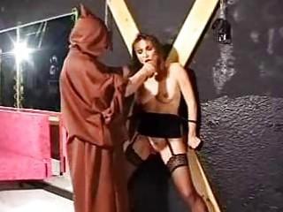 bondage older  slave into beat