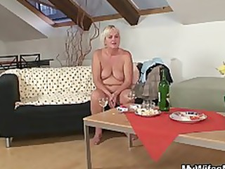 naughty group fuck with naughty elderly and her