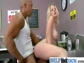 hot mature babe obtain fucked difficult by dark