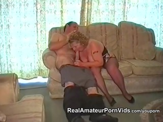 a chubby old has fuck with her man
