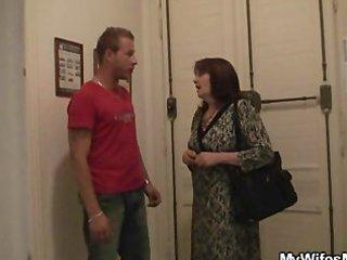 desperate guy gangbangs her gfs mom