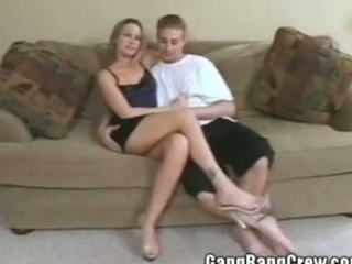 super amateur swinger housewife taking gang