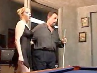 hubby watches blond woman get pierced by black