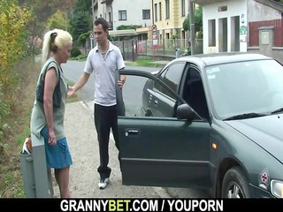 elderly is picked up and gangbanged