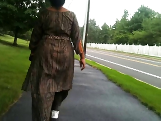 older  indian arse walking