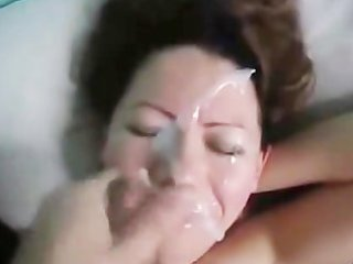 wife obtains a nice facial