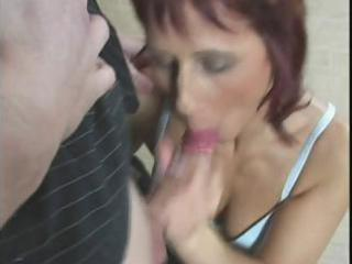 redhaired woman takes fingered, eats libido and