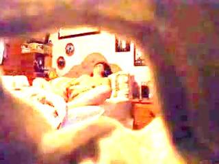 a mature babe caught masturbating