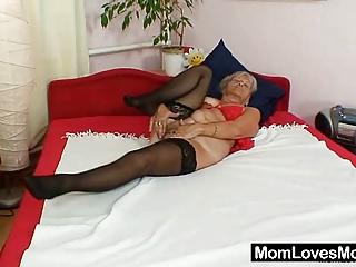 ugly grandma cecilie vibrators her  shaggy vagina