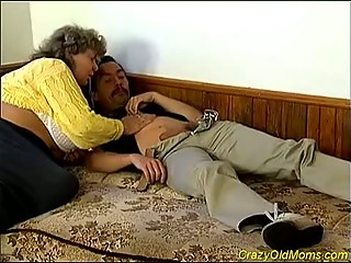 fat elderly obtains banged