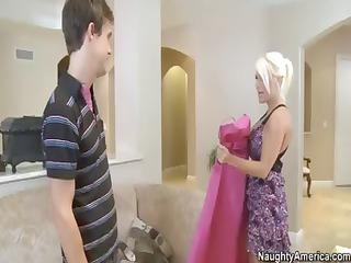 super blonde woman bride with huge knockers