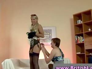 older italian girl dresses blonde in nylons