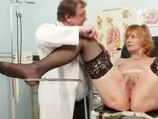 ginger old horny cave stretching into gyn clinic