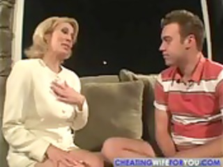milf finds sons friend sleeping on couch