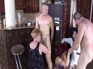 naughty grannies pierce at the bar