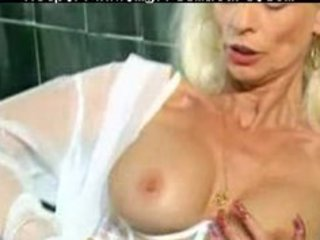older  into white lingerie and nylons fisted