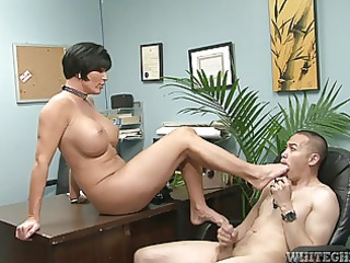 mature babe college principal obtaining a legs