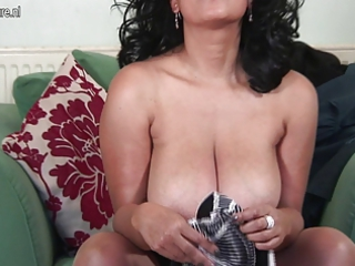 hot european milf masturbating with herself