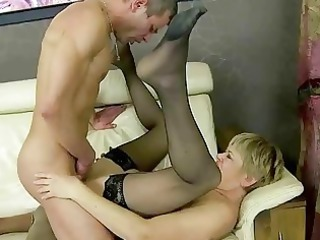 elderly fucking her more juvenile friend