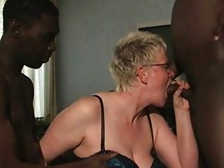 two brown men cock sucking from older  ashen wife