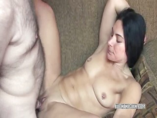 petite housewife cleo acquires her pussy pleased