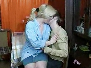 russian woman and male having a drink