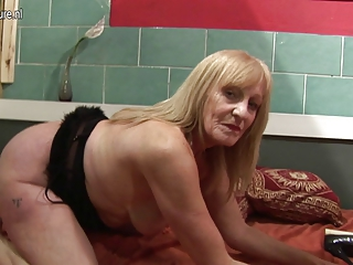 fresh amp grandmother masturbating with her juicy