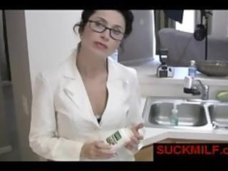 mature babe licks big dick inside dining room