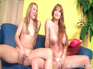 young and mom sucking shaft