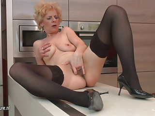 ugly older  whore likes to masturbate into her