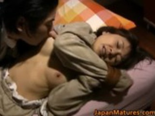 japanese woman is desperate and grownup