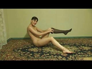 swinger lady getting nude herself