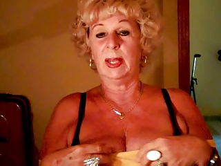 old andrea exposes her wet bossom