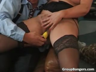 two granny milfs are obtaining their wet part1
