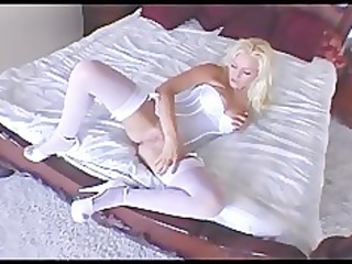 busty woman wipes her cave inside a teddy and