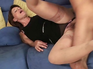 awesome lady hoe licks her sons allies giant boner