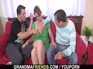 grownup acquires her mouth and ass banged