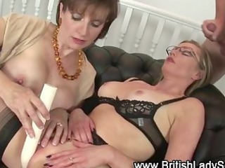 older  pantyhose bitch takes a sperm
