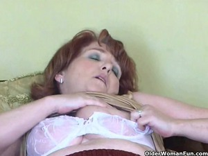 dirty elderly has solo sex with sextoy