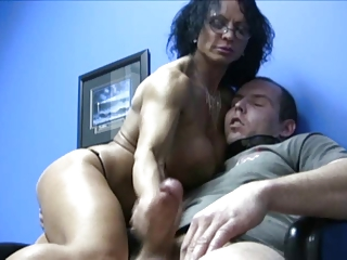 huge boobs lady handjob