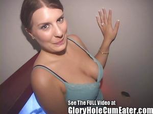gloryhole lady rachel ryder swallowing gloryhole